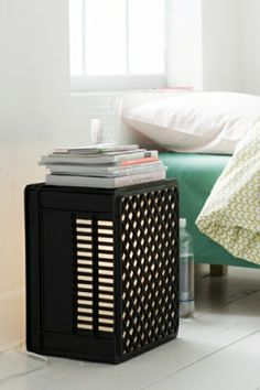 old plastic crate - why not in your bedroom?