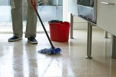 Heavy duty floor cleaner -      1/4 cup white vinegar     1 tablespoon liquid dish soap     1/4 cup washing soda     2 gallons tap water, very warm