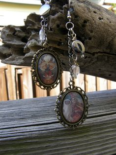 Witches with Silver and Clear Charm by SavannahVoodoo on Etsy, $10.00