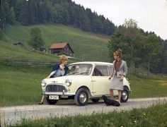 Mini Cooper - note the size of the girls in relation to the car.