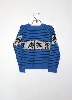 Vintage MICKEY MOUSE SWEATER Blue with Movie by PeppermintandCocoa, $13.00