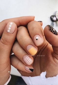 63 cute nail designs for every nail length and season - 63 cute nail designs . - 63 cute nail designs for every nail length and season – 63 cute nail designs for every nail lengt - Nail Art Designs, Pretty Nail Designs, Nails Design, Short Nail Designs, Cute Nail Art, Cute Nails, Pretty Nails, Minimalist Nails, Gel Nails