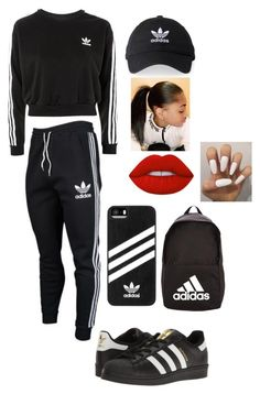 """Adidas"" by nykirafisher646 ❤ liked on Polyvore featuring adidas Originals, adidas and Lime Crime"