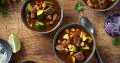 Fire up the stove or slow cooker, and warm up with one of these 15 best fall soup recipes. Creamy Soup Recipes, Fall Soup Recipes, Mexican Food Recipes, Beef Recipes, Ground Beef Meatballs, Beef Pot Roast, Beef Enchiladas, Pozole, White Bean Soup