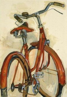 "Bicycle Paintings: Taliah Lempert ""That's a nice interpretation of a classic"" Thanks to Gillian for sharing this pin. MAKETRAX.net - Bicycle ART"
