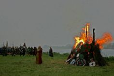 Viking funeral, Wolin   (The memorial by Foto Forge)