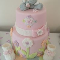 Baby girl shower cake made by Joanne Tansley