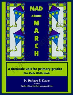 Mad About March  - You'll be Mad About March when you win this thematic unit.  Filled with ELA, math, and writing materials, you will get printables, literacy centers, and math journal prompts.  Your primary students will love it!.  A GIVEAWAY promotion for Mad about March from Its About Time Teachers on TeachersNotebook.com (ends on 3-9-2014)