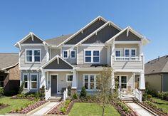 Bridgeland Model Townhome - 2,344 Sq. Ft. /2,345 Sq. Ft. #PerryHomes #trustedbuilder #Bridgeland #Cypress #CyFairISD #CypressHomes #HoustonHomes #masterplannedcommunity #lakes #communityamenities #trails #realestate #openconcept #openfloorplan #interiordesign #townhome #duplex #porch  #frontporch #landscaping