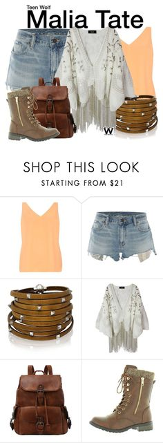 """""""Teen Wolf"""" by wearwhatyouwatch ❤ liked on Polyvore featuring Dorothy Perkins, Denim & Supply by Ralph Lauren, Sif Jakobs Jewellery, Forever Link, television and wearwhatyouwatch"""