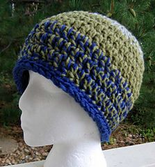 Double-Double Crochet Hat by Kathy North**Free Pattern via Ravelry :-).. Other options too! Listed as Easy which is awesome for me!**
