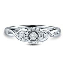 1/5 ct. tw. Diamond Halo Ring in 10K White Gold