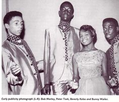 early pic of bob marley,Peter Tosh and bunny wailer