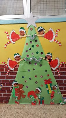Learn how to make Easy and Fun Christmas Decorations for the Classroom - Bulletin Boards. These are great holiday crafts for kids to make in the classroom Christmas Classroom Door, Christmas Door Decorations, Office Christmas, Kids Christmas, Handmade Christmas, Easy Christmas Crafts For Toddlers, Winter Crafts For Kids, Christmas Thoughts, Xmax
