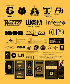 """""""Logo and label designs for my Plastic Death project. Typo Logo, Logo Branding, Vintage Typography, Typography Design, Vintage Fonts, Font Combos, Font Pairings, Text Layout, Types Of Lettering"""