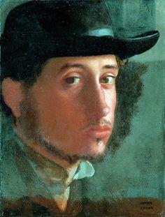 Edgar Degas, Self Portrait, 1857-58 on ArtStack #edgar-degas #art