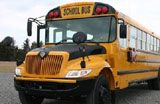 International CE Series  › 72 (small) children / 48 adult Seat Capacity School Bus › Our newest school bus model › Economical transport option › The No Student Left Behind™ system ensures the bus is completely empty at the end of the day › Equipped with numerous safety features › Overhead Storage Racks