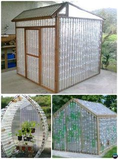 18 DIY Green House Projects Picture Instructions Plastic Bottle Greenhouse, Reuse Plastic Bottles, Plastic Bottle Crafts, Plastic Bottle House, Soda Bottle Crafts, Plastic Bottle Flowers, Diy Bottle, Recycled Bottles, Indoor Greenhouse