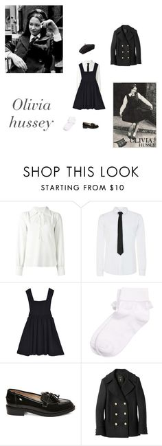 """""""60s boarding school uniform"""" by littlesweetheart123 ❤ liked on Polyvore featuring See by Chloé, Steve Madden, Balmain, Accessorize and vintage"""