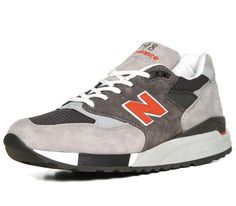 New Balance 998-Grey-Orange