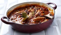 BBC - Food - Recipes : Great sausage casserole. Hearty and warming. Mmmm.