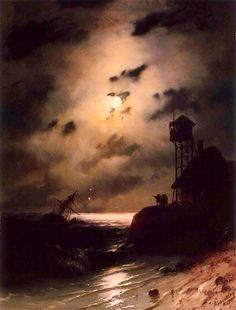 Clair de lune sur naufrage