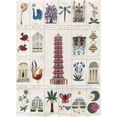 Magic of Kew tea towel