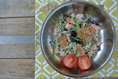 Tagliatelle mit Lachs und Tomate