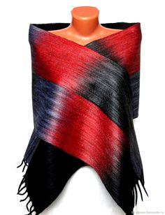 """Купить Шарф мужской валяный """"Красное и черное"""" - шарф, войлок, орнамент, подарок мужчине"""