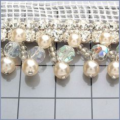 Rhinestone Banding, Crystal, N/A, N/A | Dreamtime Creations. Sold by the inch