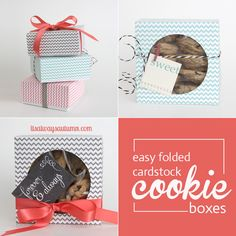 itsalwaysautumn - easy DIY folded paper cookie & treat gift box tutorial