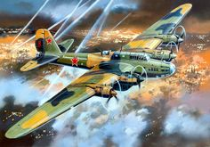 1943 Petlyakov Pe-8 'Kaybitskiy Koljoznik'  82 Division Kratovo   - Valery  Rudenko