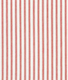 Covington Red Woven Ticking Fabric - $14.4 | onlinefabricstore.net  This fabric reminds me of the beauty found in the simple moments of Christmas.