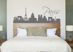 Removable Vinyl Paris Wall Decal Tour Wall Art Modern Wall Sticker