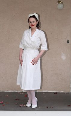 The vintage nurse will see you now (my Halloween costume this year). Too bad it is only a costume. Now we have no idea who a nurse is and who is not.