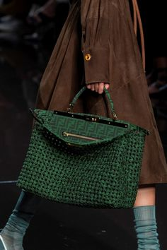 Fendi Spring 2020 Fashion Show Details. All the fashion runway close-up details, shows, and handbags from the Fendi Spring 2020 Fashion Show Details. Popular Handbags, Cute Handbags, Purses And Handbags, Leather Handbags, Cheap Handbags, Wholesale Handbags, Handbags Online, Celine Handbags, Leather Purses