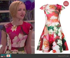 Liv's floral cap sleeve dress at the dance on Liv and Maddie.  Outfit Details: http://wornontv.net/41221/ #LivandMaddie