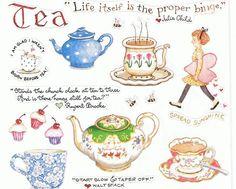 Susan Branch Tea Kettle Cup Coffee Julia Chid Girl Scrap Booking Sticker Food | eBay