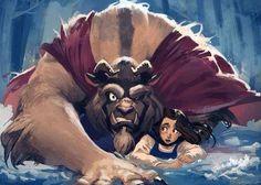 Beast saves Belle