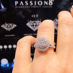 Passion8 Diamond halo engagement ring from York Jewellers
