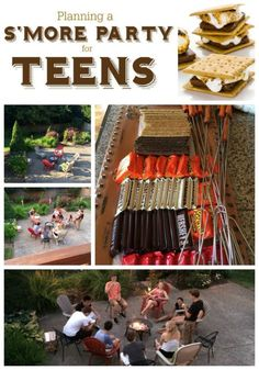 S'Mores and Hot Cocoa Bonfire Backyard Party. Plan a simple hot chocolate and S'mores party around the firepit. 13th Birthday Parties, Birthday Party For Teens, Sleepover Party, Slumber Parties, I Party, Party Time, Teen Parties, Ideas Party, Bonfire Birthday