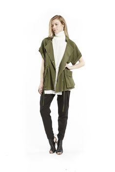 Cooper St Give Me Something Vest find it and other fashion trends. Online shopping for Cooper St clothing. The eye catching Give Me Something Vest from. Vest Outfits, Clothes For Sale, Military Jacket, Give It To Me, Jackets, Fashion Trends, Tops, Green, Clothing