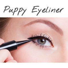 Korean Makeup Trend 2016 #4: PUPPY EYELINER by niniko-cosmetics on Polyvore featuring beautytips, makeup, korean, motd and Niniko