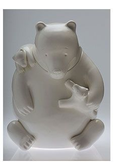 Tom Otterness Mama Bear cookie jar for Cereal Art