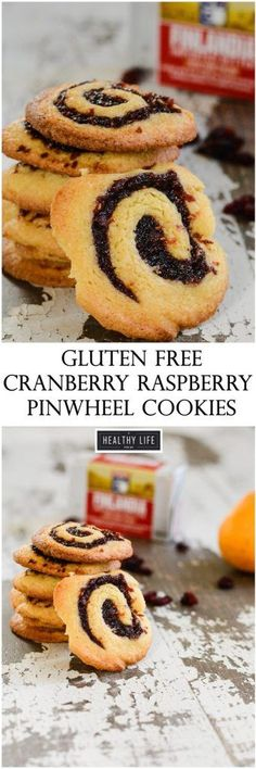 Gluten Free Cranberry Raspberry Pinwheel Cookies are crisp, buttery, tart and sweet.  The perfect addition to any holiday cookie tray.  | ahealthylifeforme.com