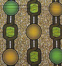 African Cotton Block Wax Print Fabric