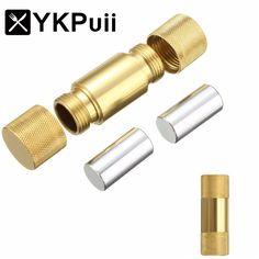 1 STÜCK Aluminium Metall Pollen Presse Presser Kompressor Spice Grinder Crusher zigarette Rauchen Schleifer rohr Sets Zubehör