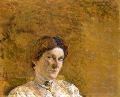 Edouard Vuillard-Portrait de Suzanne Desprez, 1908.