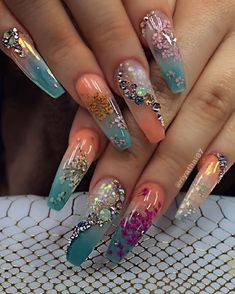 Manicure Nail Designs, Acrylic Nail Designs, Nail Manicure, Nail Art Designs, Gel Nails, Coffin Nails, Salon Nails, Stiletto Nails, Summer Acrylic Nails