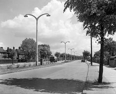 Valley Road, Basford, Nottingham, looking East, probably in the Valley Road was originally opened on 5 August Valley Road, History Photos, Local History, Nottingham, Train Station, Senior Pictures, Roads, Over The Years, 1950s
